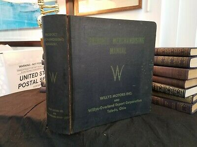 Willys Motors Product Merchandise Manual circa 1955 Edition Original Illustrated
