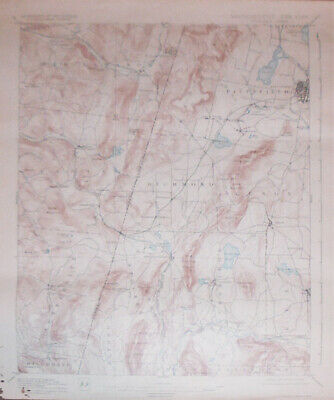 -Rare- 1931 -Pittsfield, Massachusetts-NY- Vintage Geological Topographical Map