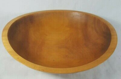 "Vintage ANtique Hand Turned Honey Maple Wood Dough Bowl Beautiful 11.5"" Wide"
