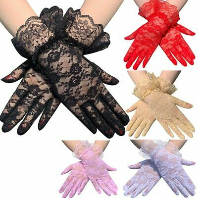 Skin Fashion Women Lady Lace Party Sexy Dressy Gloves Summer Full Finger Gloves