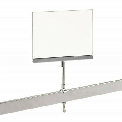 """New Acrylic Frame Clamp On 5"""" x 7"""" Sign Holder Card Display 10"""" H, 1 Piece"""