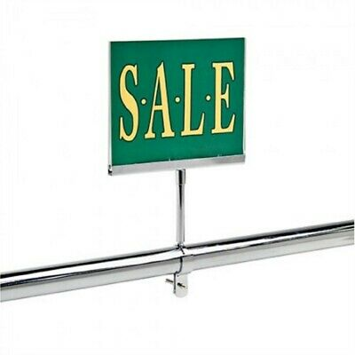 """2 New 7"""" x 11"""" Acrylic Sign Holder Card Frame With Round Tubing Base 1.25"""""""