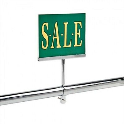 """2 New 7"""" x 11"""" Acrylic Sign Holder Card Frame With Round Tubing Base 1"""""""