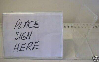 "Store Display Fixtures 3 NEW ACRYLIC SIGN HOLDERS 5""x4"""