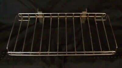 """Store Display Fixtures 2 CHROME WIRE SHELVES FOR WALL STANDARDS 15"""" wide"""