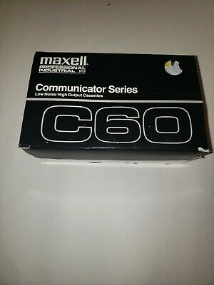 9 Maxwell professional industrial communicator series C60 cassette low noise