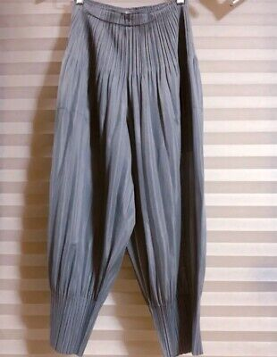 PLEATS PLEASE issey miyake sarouel pants bottoms trousers gray size 2 MINT.