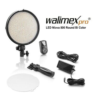 Walimex pro LED Niova 800 Plus Round Bi Color 50W Video Dauerlicht 50W dimmbar