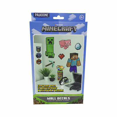 Minecraft Wall Decals Removable Vinyl Stickers Perfect for Gamers to Personalise