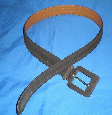"Ralph Lauren Chaps brown suede leather belt, 1.5"" wide"