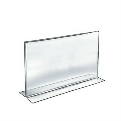 "Store Display Fixtures NEW ACRYLIC SIGN HOLDER 11"" TALL X 14"" WIDE BOTTOM LOAD"
