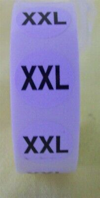 """Store Display Fixture 1000 NEW ADHESIVE SIZE LABELS 3/4"""" DIAMETER SIZE XXL"""