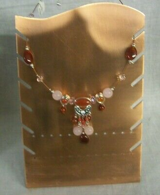 Store Display Fixtures NEW COPPER JEWELRY NECKLACE  and EARRING DISPLAY