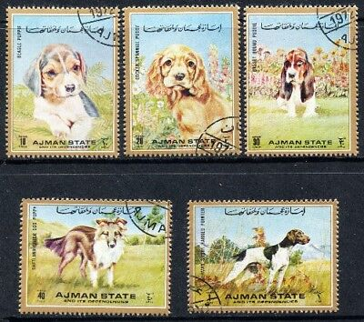 Ajman 1972 - Puppies - Complete Set of 5 CTO