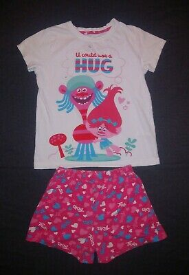 Primark   Girls Trolls Top & Shorts Outfit   Kids Size 7-8 Years
