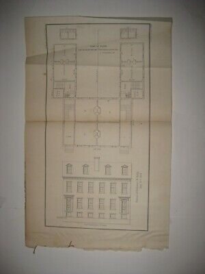 Antique 1854 Us Navy Naval Academy Annapolis Maryland Map Architecture Print Nr