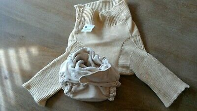 Authentic Aristocrats small wool diaper cover longies pants with wide long waist