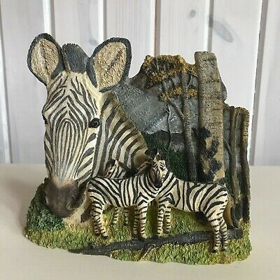 Zebra Mom and Baby's  Statue -Resin Figurine Decor Collectible