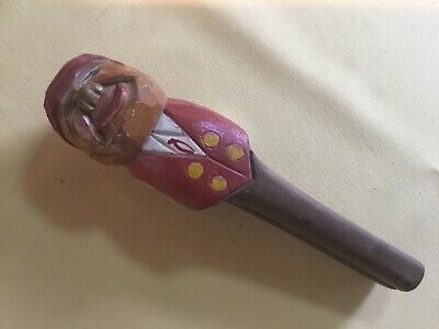Vintage Folk Art Austrian Hand Carved Wood figure Nut Cracker