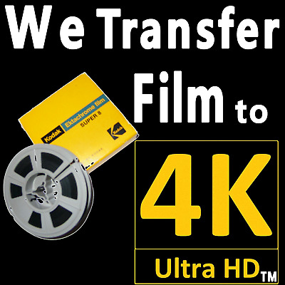 8mm S8 & 16mm Movie Reel Film to 4K UHD Ultra High Definition Scanning SERVICE