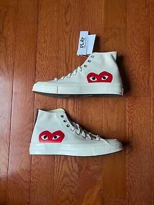 Comme Des Garcons x Converse Chuck Taylor All Star High White