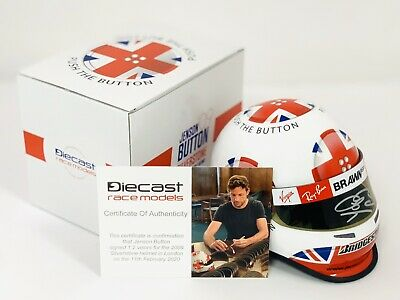 DRM Exclusive Signed Jenson Button 2009 Silverstone 1:2 Helmet. Limited Edition