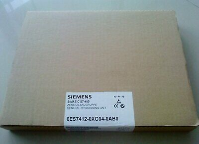 1PC New Siemens 6ES7412-0XG04-0AB0 6ES7 412-0XG04-0AB0 In Box One year warranty