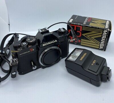 KONICA AUTOREFLEX T3 SLR 35mm Film Manual Camera Body - Strap - [++EXCELLENT++]