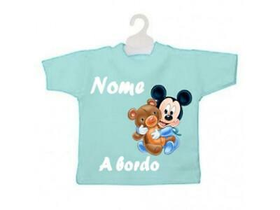 Bianco MINI T-SHIRT BIMBO A BORDO BICOLORE TOPOLINO-Nero