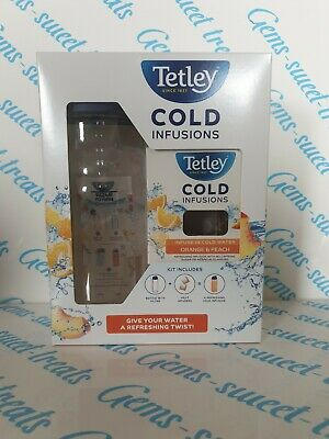 Tetley Cold Infusions Water Bottle With 12 Orange & Peach Infusions