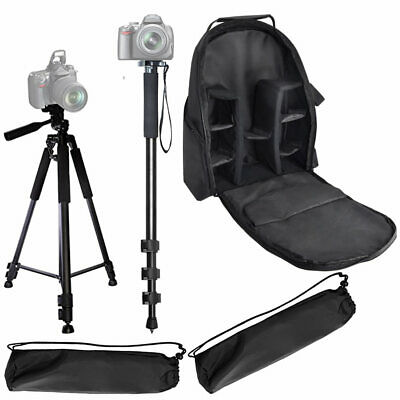 """Pro 60"""" Tripod & 72"""" Monopod & Deluxe Backpack for DSLR Cameras/Camcorders"""