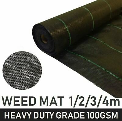 Woven Heavy Duty Weed Control Fabric Membrane Garden Landscape Ground Cover Mat