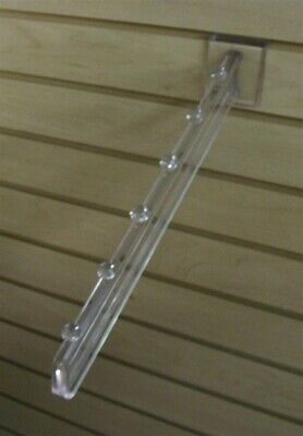 Store Display Fixtures 4 NEW 6 BALL SLAT WALL WATERFALLS CLEAR POLY CARBONATE