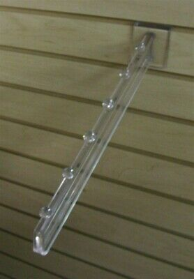 Store Display Fixtures 12 NEW 6 BALL SLAT WALL WATERFALLS CLEAR POLY CARBONATE