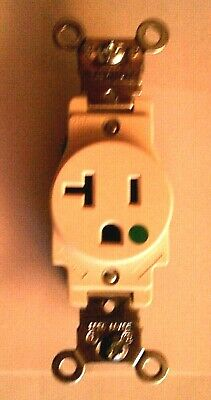 Leviton 20 Amp Industrial Grade Single Outlet, White, Free Shipping