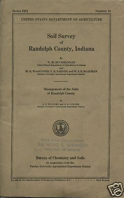 Soil Survey Randolph County Indiana-1931-Department Of Agriculture-Map