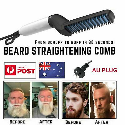 Quick Beard Straightener Multifunctional Hair Styler Comb Curler Show Cap Men