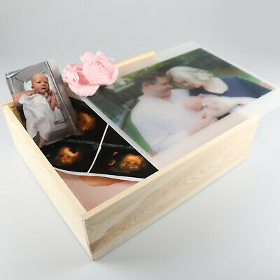 Photo Printed Wooden Organisation Storage Box Mother's Day Birthday Present Gift