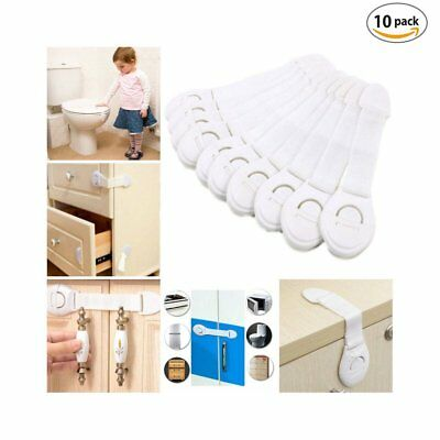 Safety 10 Pack spring loaded Cabinet Child Proof Baby Locks & Drawer Latches