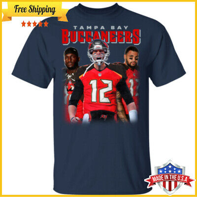 NEWEST Tampa Bay Buccaneers Tom Brady Mikeevans Chrisgodwin T Shirt S-6XL Tee