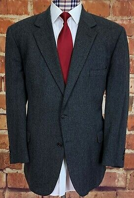 BROOKS BROTHERS Sport Coat, 48R, Gray, LAMBSWOOL, Made in ITALY