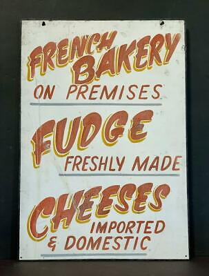 FRENCH BAKERY…CHEESES c. 1940 sign
