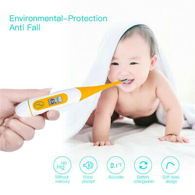 Digital LCD Waterproof Medical, Baby Adult Body Safe Soft Electronic Thermometer