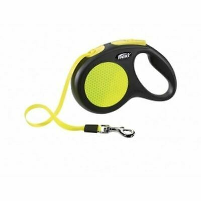 Flexi Neon Tape in Black - Retractable and Expandable - Reflective - 5m - Large