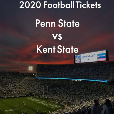 SIX Penn State Nittany Lions Football vs Kent State 2020 Football Tickets