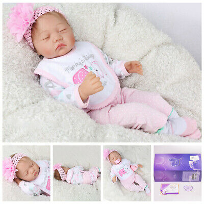 Toddler Girl Realistic Reborn Dolls Vinyl Silicone Lifelike Newborn Baby Doll UK