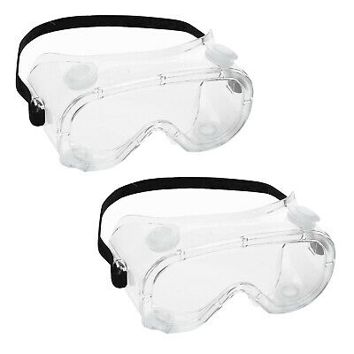 2pc Anti Flog Goggles Safety Lab Glasses Anti Protective Chemical Goggles SPLASH