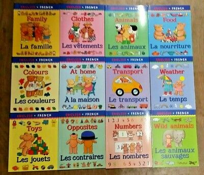 12 DELIGHTFUL 'MY FIRST BILINGUAL' CHILDREN'S BOOKS by C. BEATON English/French