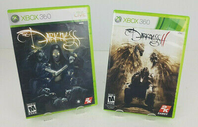 The Darkness I & II (Microsoft Xbox 360, 2007, 2012) Complete Game's lot of 2
