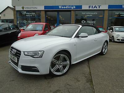 2013/13 Audi A5 Convertible 2.0 Tdi S Line Se Full Leather/19 Inch Alloys